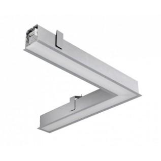 Модульный угловой встраиваемый светодиодный светильник GD104VL-40-1025