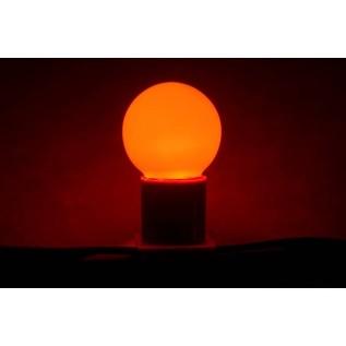 Лампа шар светодиодная, 3  диода, цоколь Е27, красная 405-112