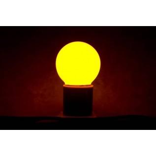 Лампа шар светодиодная, 3  диода, цоколь Е27, жёлтая 405-111