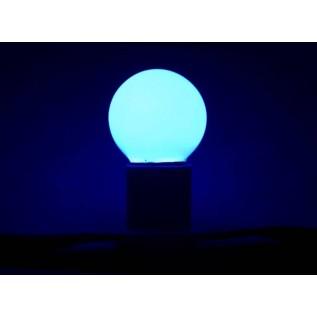 Лампа шар светодиодная, 3  диода, цоколь Е27, синяя 405-113