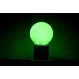 Лампа шар светодиодная, 3  диода, цоколь Е27, зеленая 405-114