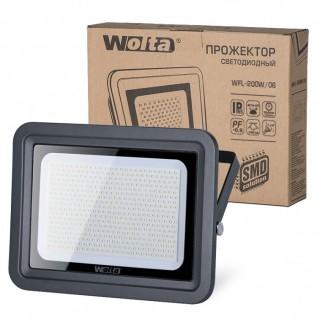Светодиодный прожектор WFL-200W/06, 5500K, 200 W SMD, IP 65,цвет серый, слим