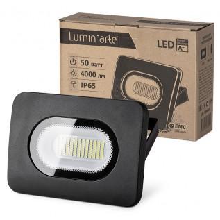 Светодиодный прожектор LFL-50W/05, 5500K, 50 W SMD, IP 65,цвет серый, слим